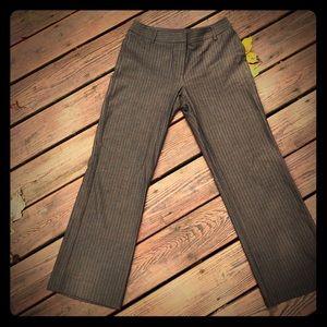Rafaela Brown Pinstriped Dress Pants size 8P
